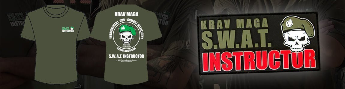 krav maga swat t-shirt und patch