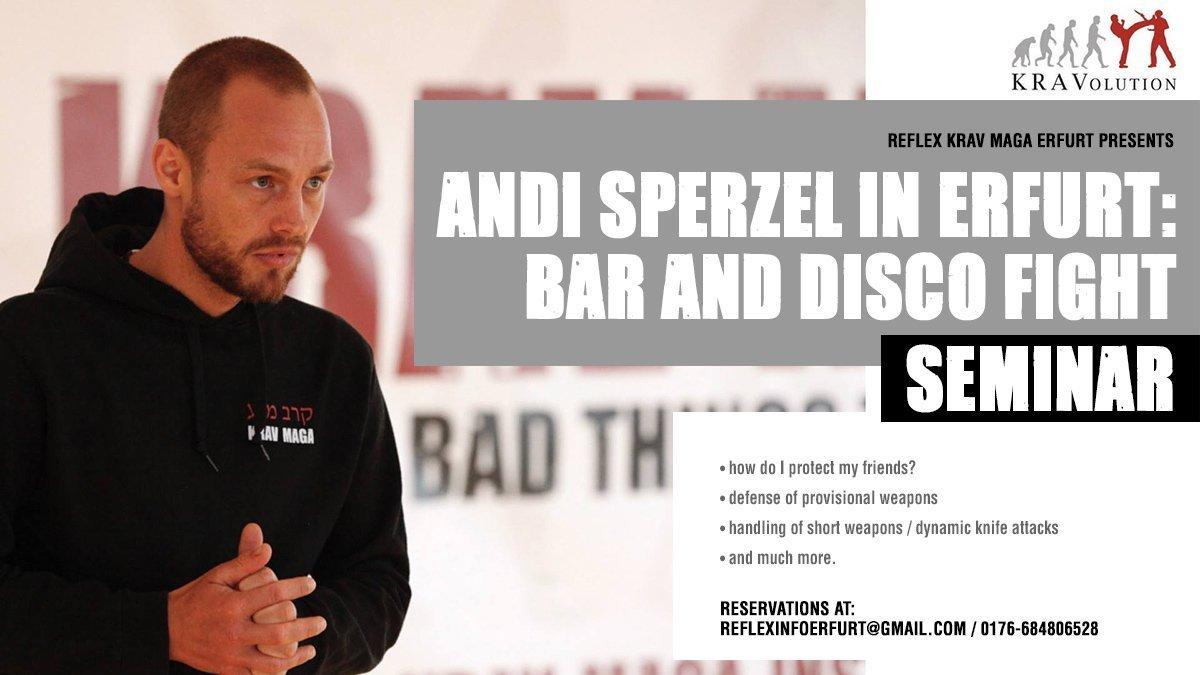 Bar- / Disco Fighting Seminar with KRAVolution World Instructor Andi Sperzel